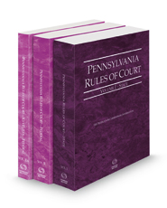 Pennsylvania Rules of Court - State, Federal and Federal KeyRules, 2021 revised ed. (Vols. I-IIA, Pennsylvania Court Rules)
