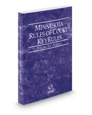 Minnesota Rules of Court - Federal KeyRules, 2020 ed. (Vol. IIA, Minnesota Court Rules)