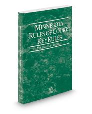 Minnesota Rules of Court - Federal KeyRules, 2021 ed. (Vol. IIA, Minnesota Court Rules)