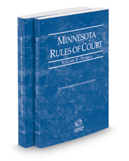 Minnesota Rules of Court - Federal and Federal KeyRules, 2018 ed. (Vols. II & IIA, Minnesota Court Rules)