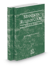 Minnesota Rules of Court - Federal and Federal KeyRules, 2019 ed. (Vols. II & IIA, Minnesota Court Rules)