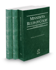 Minnesota Rules of Court - State, Federal and Federal KeyRules, 2017 ed. (Vols. I-IIA, Minnesota Court Rules)