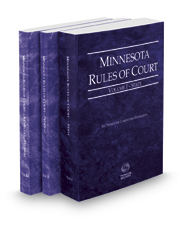 Minnesota Rules of Court - State, Federal and Federal KeyRules, 2020 ed. (Vols. I-IIA, Minnesota Court Rules)