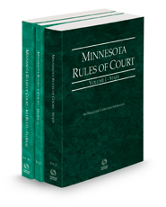 Minnesota Rules of Court - State, Federal and Federal KeyRules, 2021 ed. (Vols. I-IIA, Minnesota Court Rules)