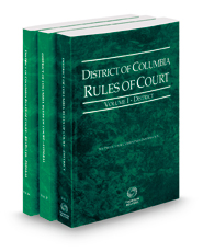 District of Columbia Rules of Court - District, Federal and Federal KeyRules, 2021 ed. (Vols. I-IIA, District of Columbia Court Rules)