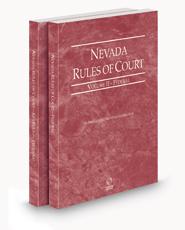 Nevada Rules of Court - Federal and Federal KeyRules, 2021 ed. (Vols. II & IIA, Nevada Court Rules)
