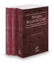 Nevada Rules of Court - State, Federal and Federal KeyRules, 2017 ed. (Vols. I-IIA, Nevada Court Rules)