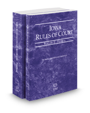 Iowa Rules of Court – Federal and Federal KeyRules, 2017 ed. (Vols. II & IIA, Iowa Court Rules)