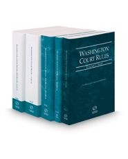 Washington Court Rules - State, Federal, Federal KeyRules, Local and Local KeyRules, 2019 ed. (Vols. I-IIIA, Washington Court Rules)