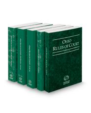 Ohio Rules of Court - State, Federal, Federal KeyRules, Local and Local KeyRules, 2019 ed. (Vols. I-IIIA, Ohio Court Rules)
