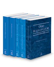 Ohio Rules of Court - State, Federal, Federal KeyRules, Local and Local KeyRules, 2022 ed. (Vols. I-IIIA, Ohio Court Rules)