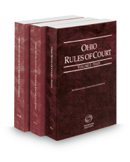 Ohio Rules of Court - State, Federal and Federal KeyRules, 2018 ed. (Vols. I-IIB, Ohio Court Rules)