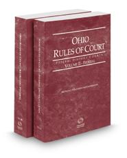 Ohio Rules of Court - Federal and Federal KeyRules, 2018 ed. (Vols. II & IIB, Ohio Court Rules)