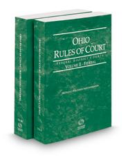 Ohio Rules of Court - Federal and Federal KeyRules, 2019 ed. (Vols. II & IIB, Ohio Court Rules)