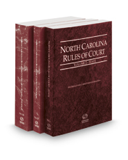 North Carolina Rules of Court - State, Federal and Federal KeyRules, 2018 ed. (Vols. I-IIA, North Carolina Court Rules)