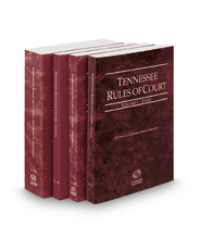 Tennessee Rules of Court - State, Federal, Federal KeyRules, and Local, 2017 ed. (Vols. I-III, Tennessee Court Rules)