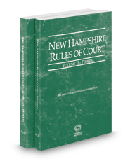 New Hampshire Rules of Court - Federal and Federal KeyRules, 2017 ed. (Vols. II & IIA, New Hampshire Court Rules)