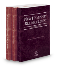 New Hampshire Rules of Court - State, Federal and Federal KeyRules, 2018 ed. (Vols. I-IIA, New Hampshire Court Rules)