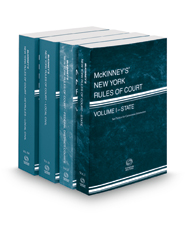 McKinney's New York Rules of Court - State, Federal District, Local and Local KeyRules, 2017 ed. (Vols. I-IIIA, New York Court Rules)