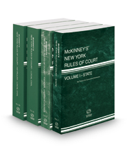 McKinney's New York Rules of Court - State, Federal District, Local and Local KeyRules, 2018 ed. (Vols. I-IIIA, New York Court Rules)
