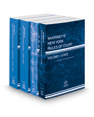 McKinney's New York Rules of Court - State, Federal District, Local and Local KeyRules, 2021 ed. (Vols. I-IIIA, New York Court Rules)