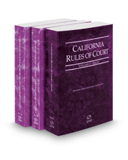 California Rules of Court - State, Federal District Courts and Federal KeyRules, 2019 ed. (Vols. I-IIB, California Court Rules)
