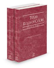 Texas Rules of Court - Federal and Federal KeyRules, 2021 ed. (Vols. II-IIA, Texas Court Rules)