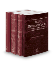 Texas Rules of Court - State, Federal, Federal KeyRules and Local, 2017 ed. (Vols. I-III, Texas Court Rules)
