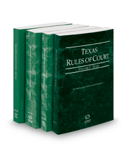 Texas Rules of Court - State, Federal, Federal KeyRules and Local, 2018 ed. (Vols. I-III, Texas Court Rules)