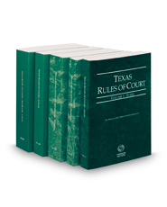 Texas Rules of Court - State, Federal, Federal KeyRules, Local and Local KeyRules, 2018 ed. (Vols. I-IIIA, Texas Court Rules)