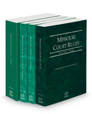Missouri Court Rules - State, Federal, Federal KeyRules and Circuit, 2021 ed. (Vols. I-III, Missouri Court Rules)