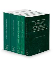 Missouri Court Rules - State, Federal, Federal KeyRules, Circuit and Circuit KeyRules, 2021 ed. (Vols. I-IIIA, Missouri Court Rules)