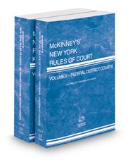 McKinney's New York Rules of Court - Federal District Courts and Federal District Courts KeyRules, 2021 ed. (Vols. II & IIB, New York Court Rules)