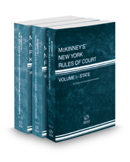 McKinney's New York Rules of Court - State, Federal District and Federal District KeyRules, 2017 ed. (Vols. I, II, IIB, New York Court Rules)