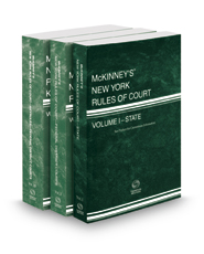 McKinney's New York Rules of Court - State, Federal District and Federal District KeyRules, 2018 ed. (Vols. I, II, IIB, New York Court Rules)