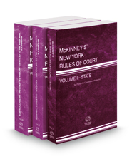 McKinney's New York Rules of Court - State, Federal District and Federal District KeyRules, 2019 ed. (Vols. I, II, IIB, New York Court Rules)