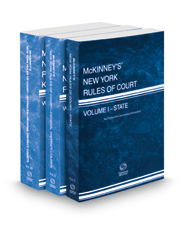 McKinney's New York Rules of Court - State, Federal District and Federal District KeyRules, 2021 ed. (Vols. I, II, IIB, New York Court Rules)