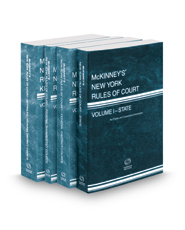 McKinney's New York Rules of Court - State, Federal District, Federal Bankruptcy and Federal District KeyRules, 2017 ed. (Vols. I, II, IIA, IIB, New York Court Rules)