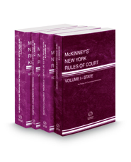 McKinney's New York Rules of Court - State, Federal District, Federal Bankruptcy and Federal District KeyRules, 2019 ed. (Vols. I, II, IIA, IIB, New York Court Rules)