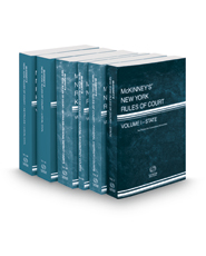 McKinney's New York Rules of Court - State, Federal District, Federal Bankruptcy, Federal District KeyRules, Local and Local KeyRules, 2017 ed. (Vols. I, II, IIA, IIB, III & IIIA New York Court Rules)