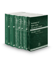 McKinney's New York Rules of Court - State, Federal District, Federal Bankruptcy, Federal District KeyRules, Local and Local KeyRules, 2018 ed. (Vols. I, II, IIA, IIB, III & IIIA New York Court Rules)