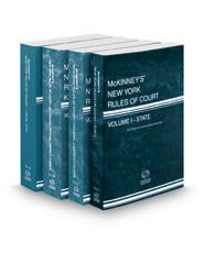 McKinney's New York Rules of Court - State, Federal District Courts, Federal District Courts KeyRules and Local, 2017 ed. (Vols. I, II, IIB & III, New York Court Rules)