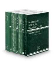 McKinney's New York Rules of Court - State, Federal District Courts, Federal District Courts KeyRules and Local, 2018 ed. (Vols. I, II, IIB & III, New York Court Rules)