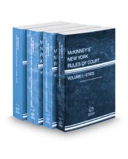 McKinney's New York Rules of Court - State, Federal District Courts, Federal District Courts KeyRules and Local, 2021 ed. (Vols. I, II, IIB & III, New York Court Rules)