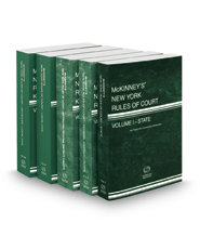 McKinney's New York Rules of Court - State, Federal District, Federal District KeyRules, Local and Local KeyRules 2018 ed. (Vols. I, II, IIB, III & IIIA, New York Court Rules)