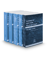 McKinney's New York Rules of Court - State, Federal District, Federal District KeyRules, Local and Local KeyRules 2021 ed. (Vols. I, II, IIB, III & IIIA, New York Court Rules)