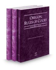 Oregon Rules of Court - State, Federal and Federal KeyRules, 2020 ed. (Vols. I-IIA, Oregon Court Rules)