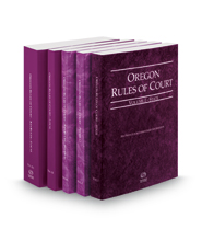 Oregon Rules of Court - State, Federal, Federal KeyRules, Local and Local KeyRules, 2016 ed. (Vols. I-IIIA, Oregon Court Rules)