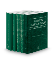 Oregon Rules of Court - State, Federal, Federal KeyRules, Local and Local KeyRules, 2018 ed. (Vols. I-IIIA, Oregon Court Rules)
