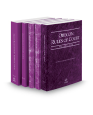 Oregon Rules of Court - State, Federal, Federal KeyRules, Local and Local KeyRules, 2020 ed. (Vols. I-IIIA, Oregon Court Rules)